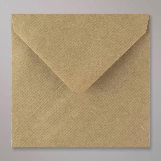 Bruin-geribbelde Vintage Envelop