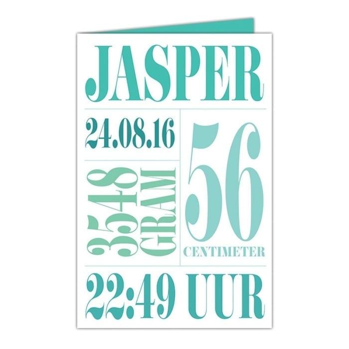 Geboortekaartje Typografie is een ontwerp bestaande uit tekst en lijntjes. Eenvoudig en strak. Valt onder geboortekaartjes typografie.