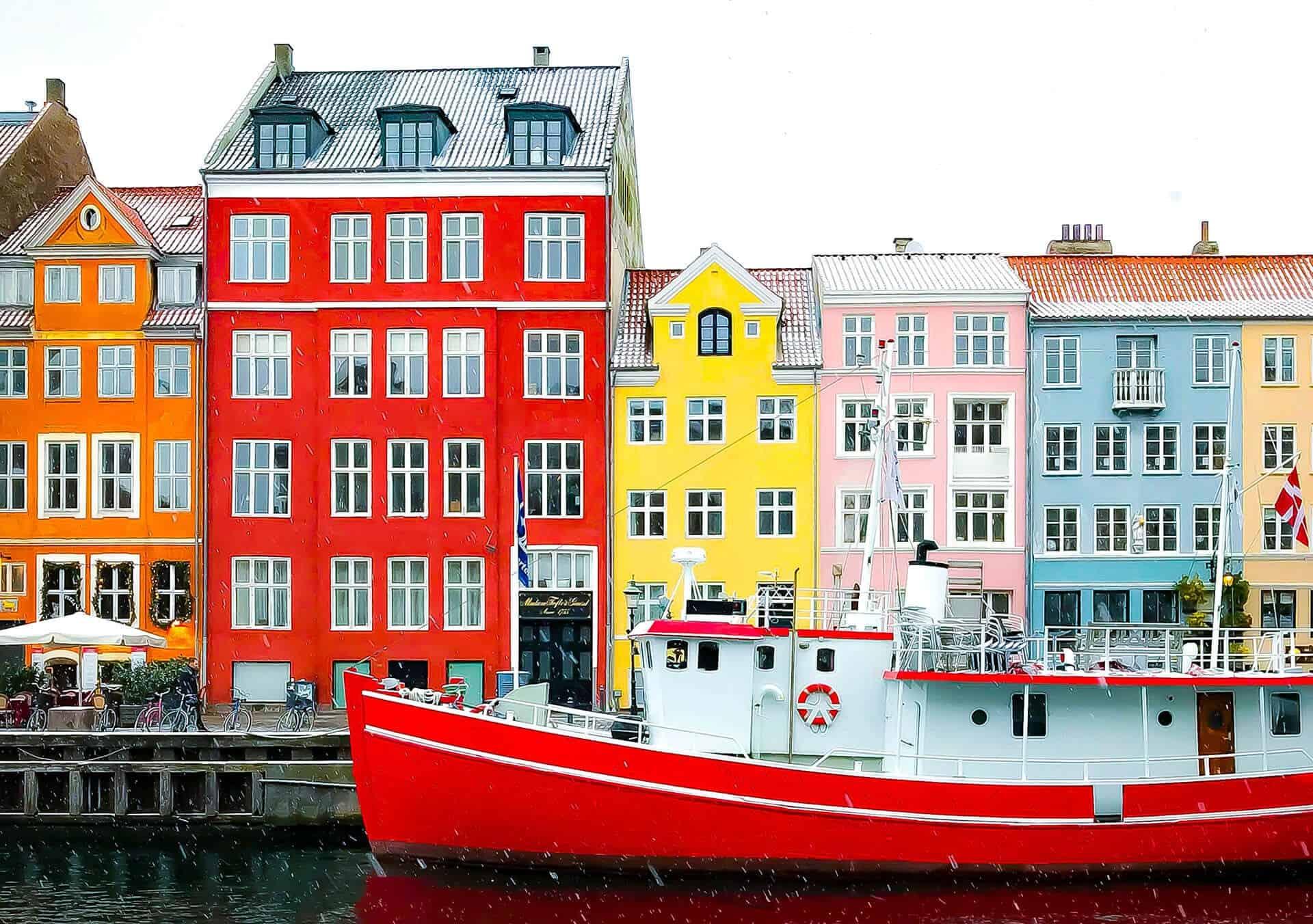 Leuke vrolijke huisjes in Copenhagen. Bij artikel over populaire Scandinavische namen.
