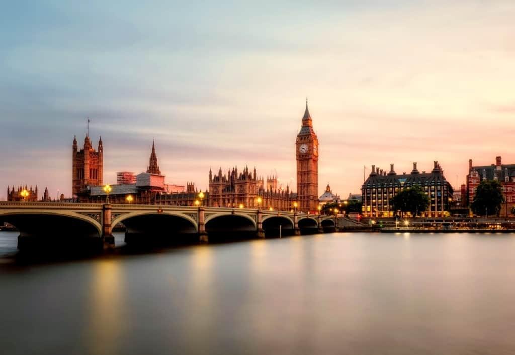 Uitzicht op Londen, Engeland, met Big Ben | Populaire Engelse namen